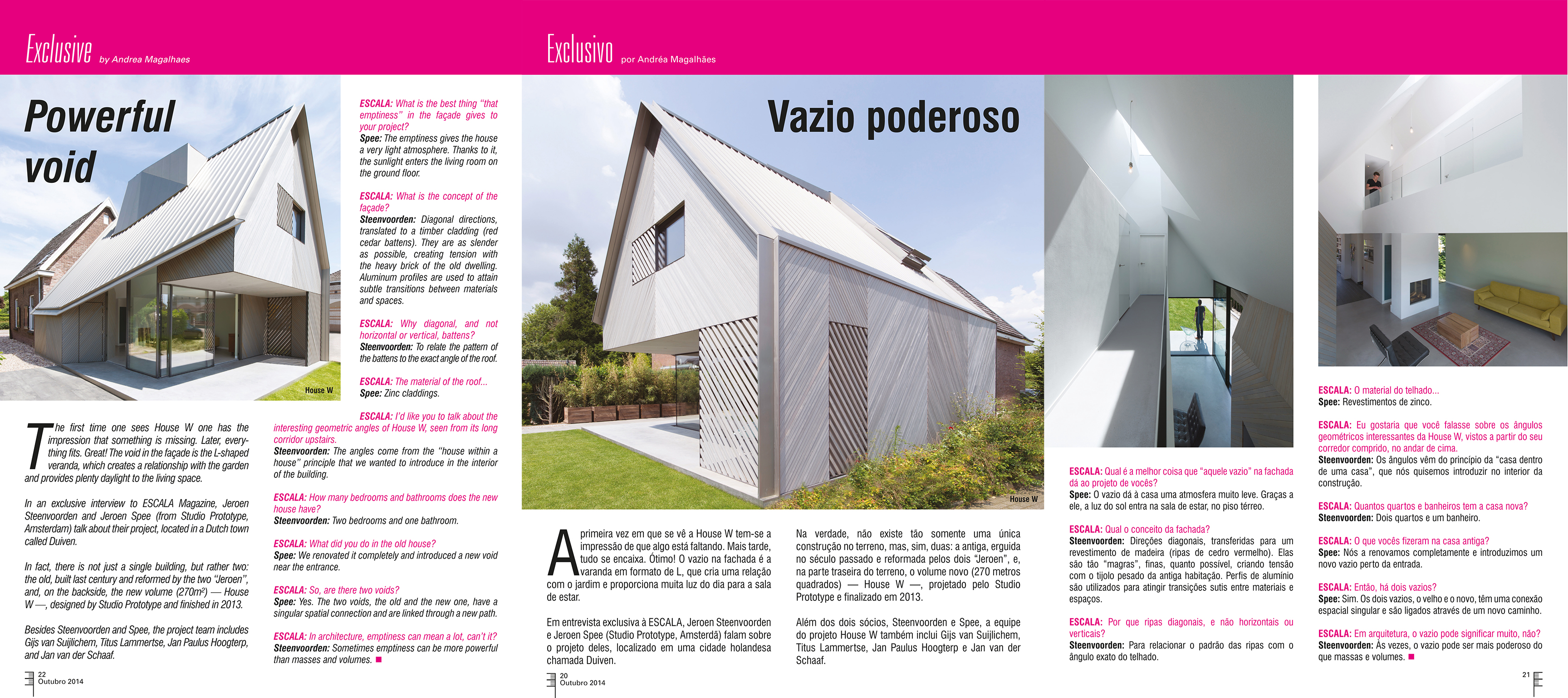 HOUSE W IN ESCALA MAGAZINE (BRA)