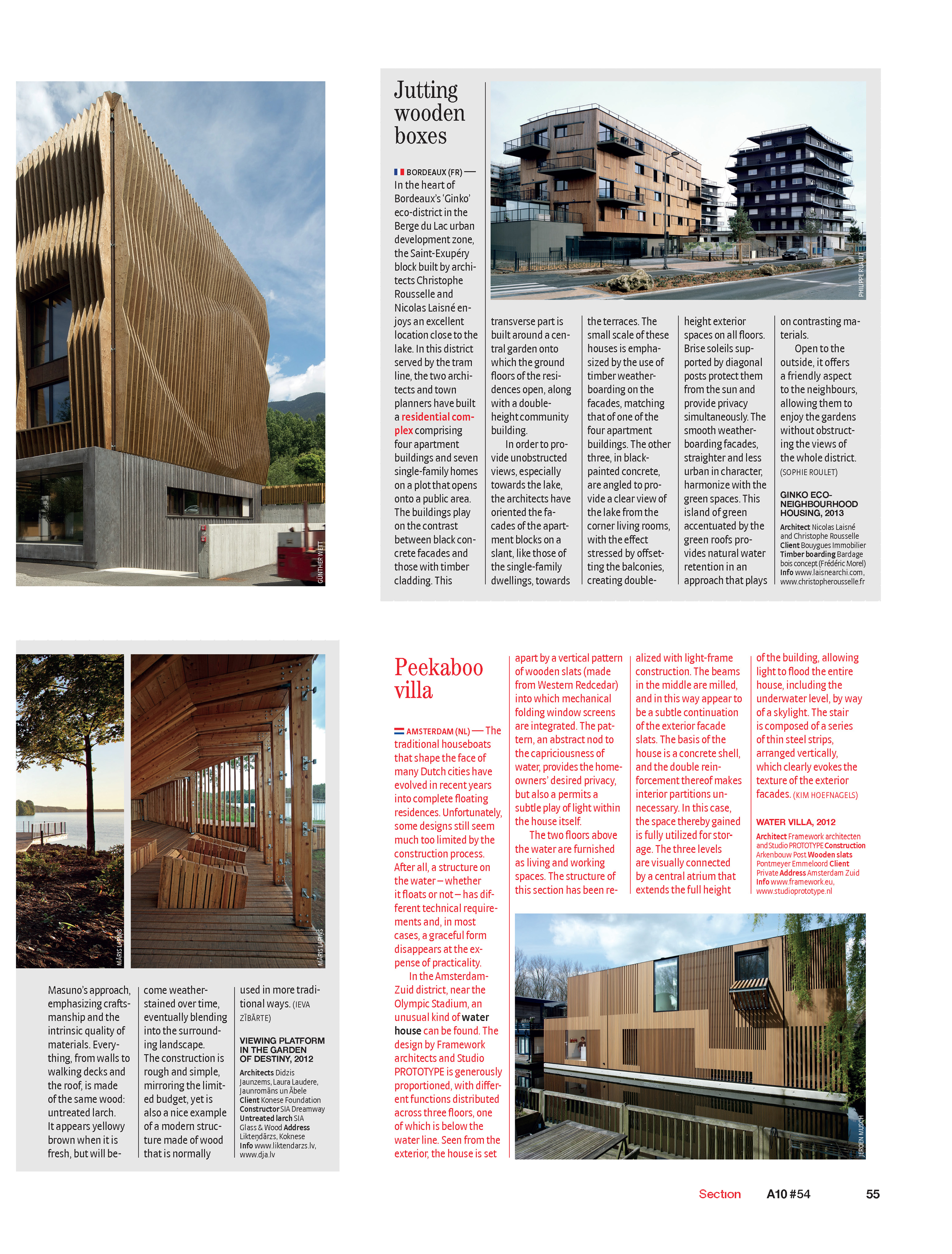 WATERVILLA IN A10 MAGAZINE