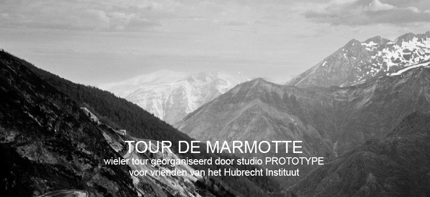STUDIO PROTOTYPE AAN DE START VAN TOUR DE MARMOTTE VOOR VRIENDEN VAN HET HUBRECHT INSTITUUT