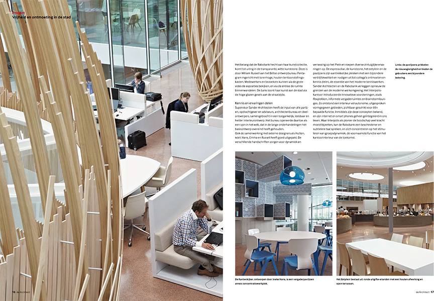 INTERIEUR KANTOOR RABOBANK IN DE ARCHITECT
