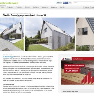 ARTIKEL OVER HOUSE W OP ARCHITECTENWEB