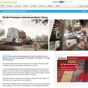 STUDIO PROTOTYPE WINT PRIJSVRAAG VOOR PAVILJOEN THEO VAN GOGH-PARK AMSTERDAM