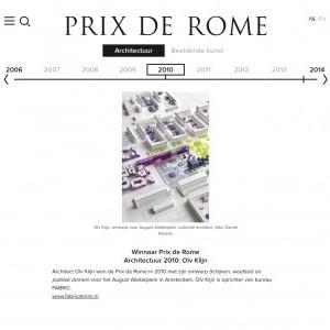STUDIO PROTOTYPE WINT ZILVER PRIX DE ROME 2010
