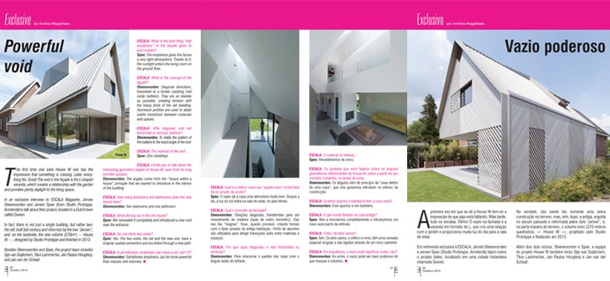HOUSE W OP DE COVER VAN HET BRAZILIAANSE MAGAZINE ESCALA